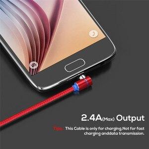 Image 4 - Acgicea 90 תואר מגנטי כבל USB סוג C טעינה עבור סמסונג S8 S9 בתוספת מגנט תשלום מהיר לxiaomi Huawei מטען כבלים
