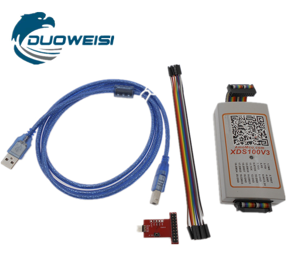 TI XDS100v3 Programmer Supports TI series chips CC1310, CC2640R2F newest ti dsp emulator xds100v3 fully functional version supports protocol conversion