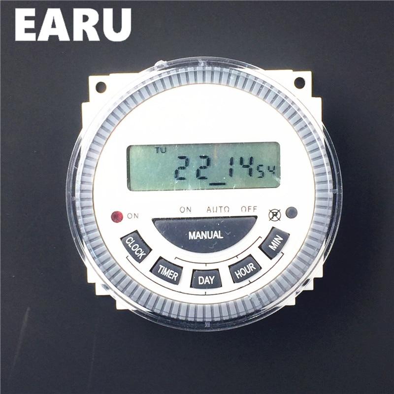 EARU TM619 AC 220 v 230 v 240 v הדיגיטלי LCD כוח טיימר לתכנות זמן ממסר עם UL ברשימה ממסר 16A, חיווט קל.
