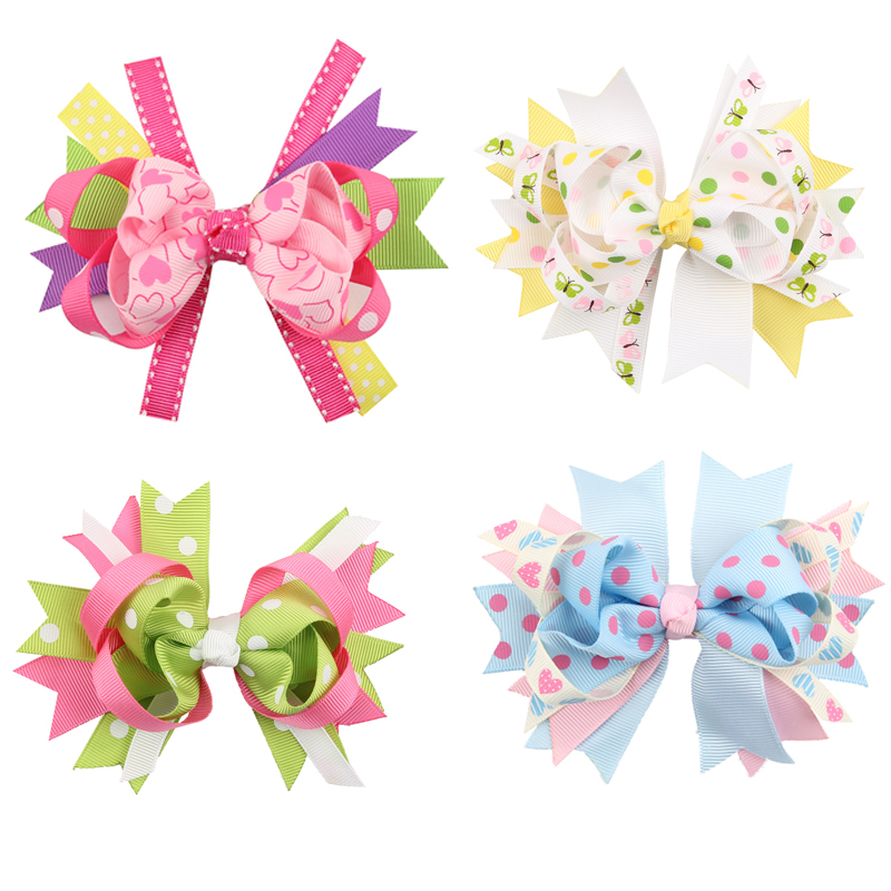 TWDVS COOL Kids Hair Clip Flower Hair Accessories Bow Knot hairgrip - Apparel Accessories - Photo 6