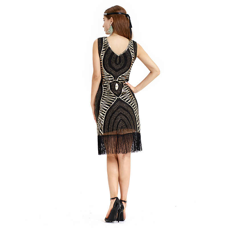 Sequins Latin Dance Dress Great Gatsby Dress 1920s Flapper Dresses Plus  Size Sleevless Fringe Tassel Charleston Dresses