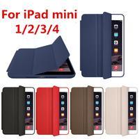 With LOGO Funda Smart Cover For Apple IPad Mini Case Leather Magnetic Case For IPad Mini