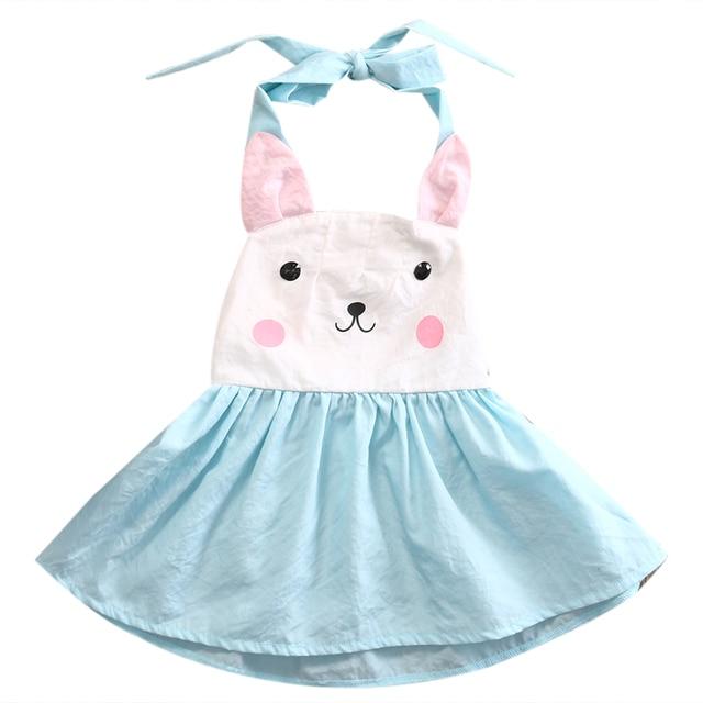 0f2baabc1 Easter 2019 Toddler Baby Kids Girls Bunny Dress Backless Halter Party  Wedding Fancy Dresses 1-5T