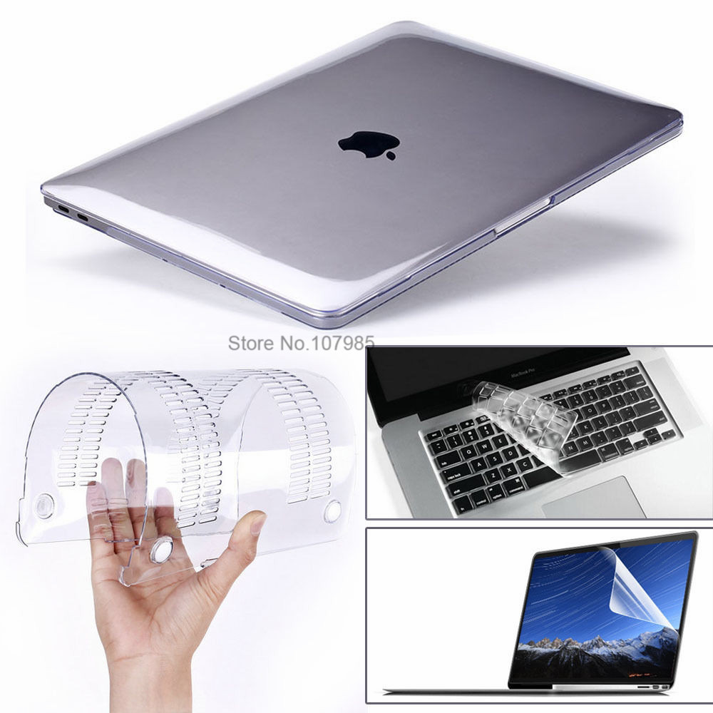 """3 in 1 For Mac Book Air 11"""" Pro 13/15"""" Retina 12 Cover Case Protector for Macbook Air 13 Touch bar 2018 2017 2016 2012 2013 2015-in Laptop Bags & Cases from Computer & Office"""