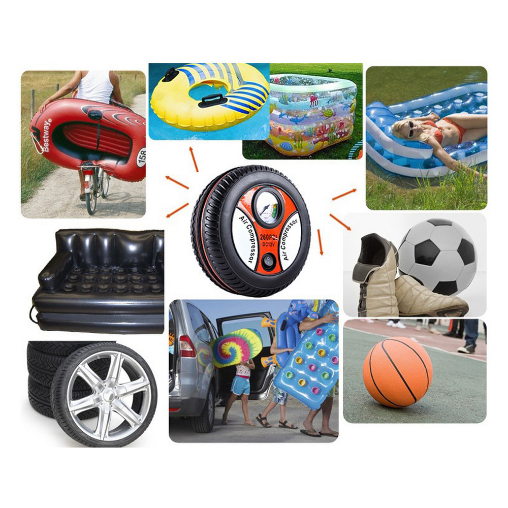 Image 4 - Mini BY 266 Tire Inflator Air Compressor Dropship Car Air Pump DC 12V Pump Portable Electric Auto Replacement Parts-in Inflatable Pump from Automobiles & Motorcycles