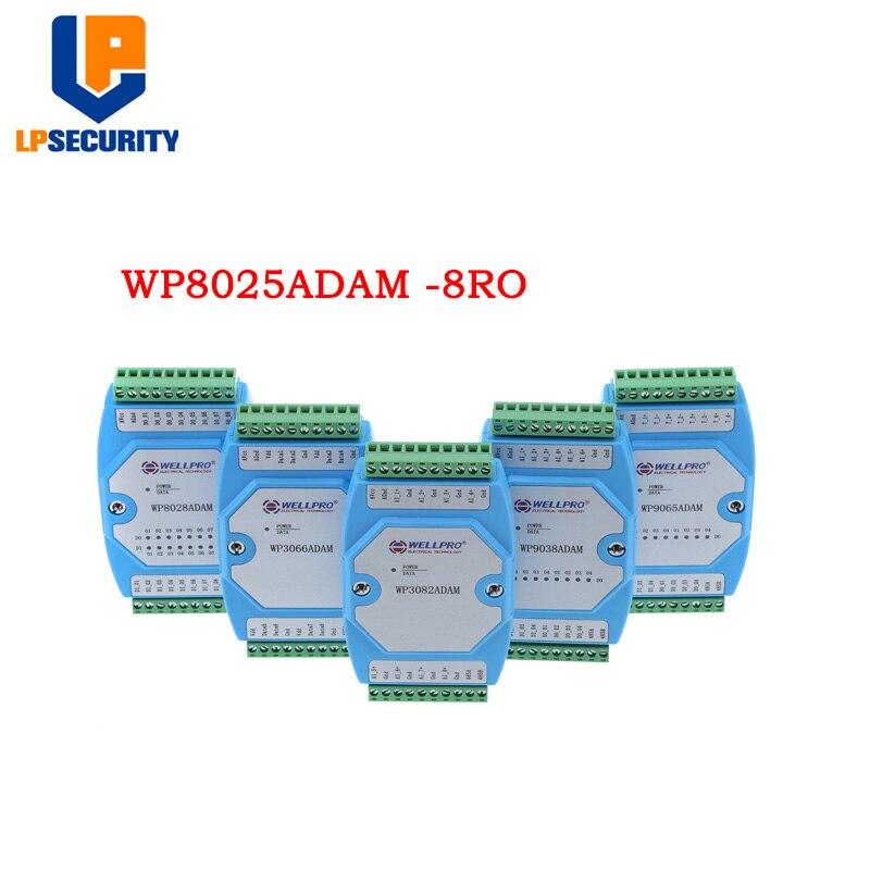 8-kanal Relais Spst Ausgang Modul Isoliert 8ry Rs485 Modbus Rtu Wp8025adam Exzellente QualitäT