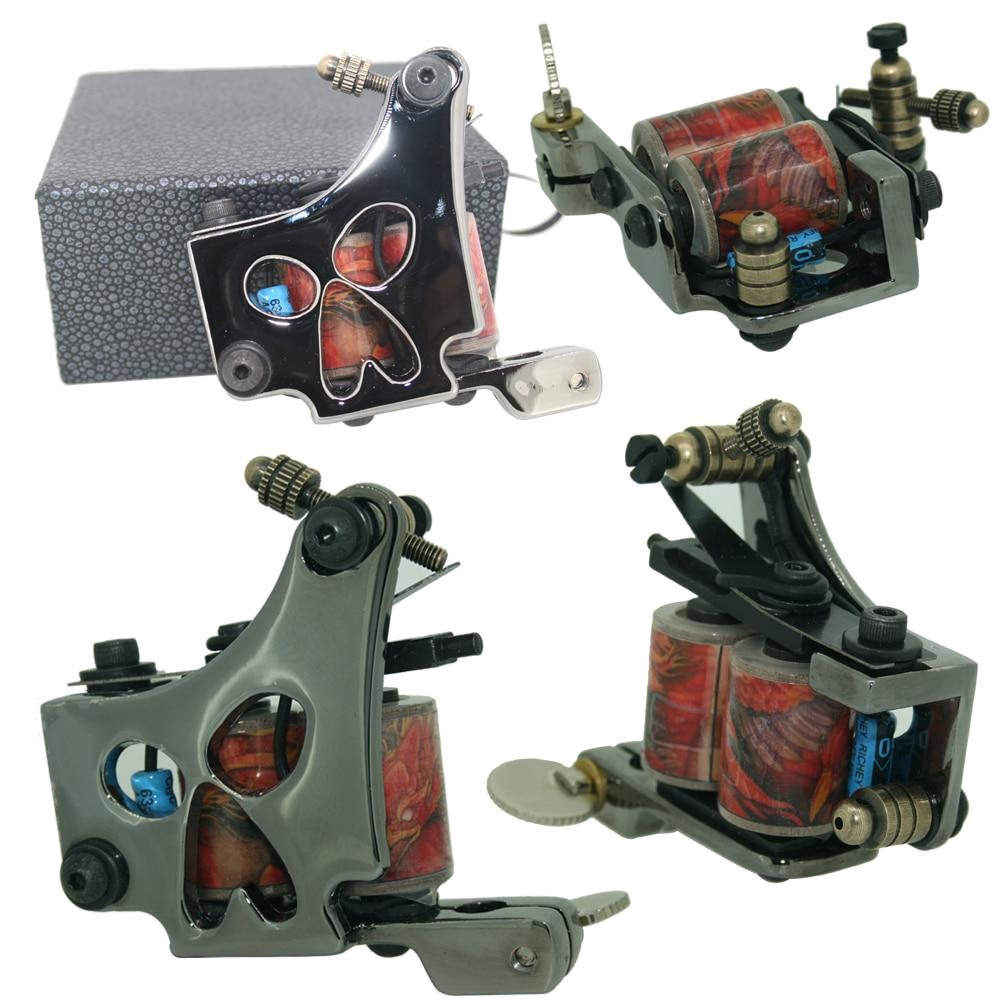 High Strength Stable Working Speed Black Pig Iron Coils High Rotating Speed Tattoo Machine Shader Guns Body Art