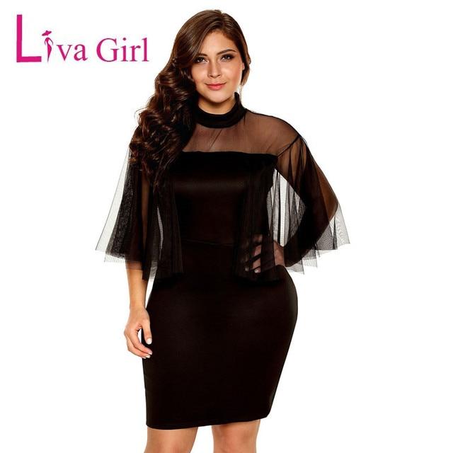 Aliexpress Buy Liva Girl Black Long Sleeves Big Size Dress