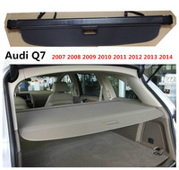 For Audi Q7 2006 2015 Rear Trunk Cargo Cover Security Shield Screen shade High Qualit Car Accessories
