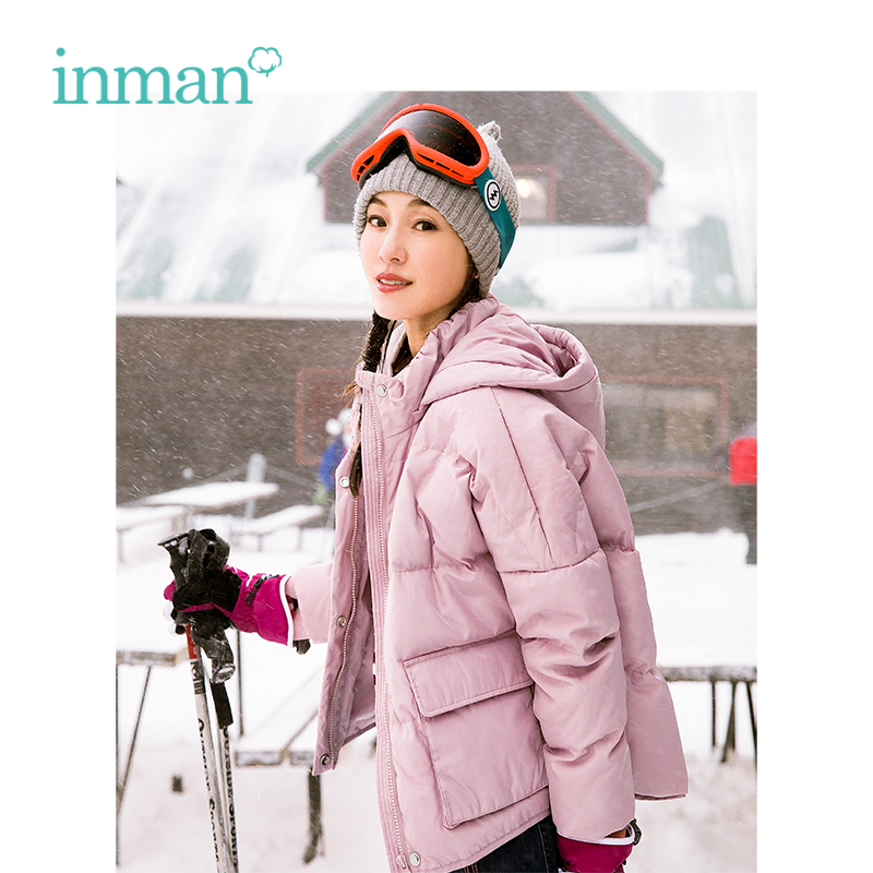 INMAN 2018 Winter New Arrival Female Hooded Loose Warm Short Section Women   Down     Coat