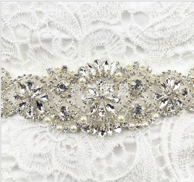 Bridal Belts with Crystals Diamond Wedding Belt Accessories De Vestidos De Novia Cinto Rhinestones Bridal Sash
