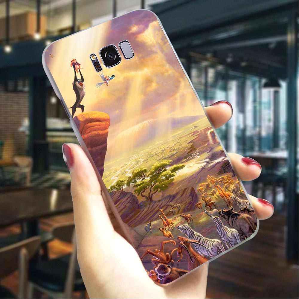 Hard Phone Cover for Galaxy S8 Lion King Case for Samsung S9 Plus Covers S10e M10 M20 M30 S7 Edge S6 S10 Note 8 9