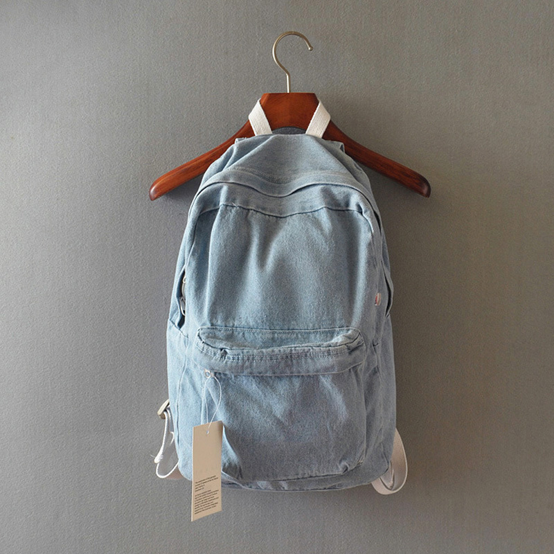 fashion women book bags vintage Denim Backpack college men back bags  rucksack school bag boys schoolbags kids girls sack pack-in Backpacks from  Luggage ... c9453f8121