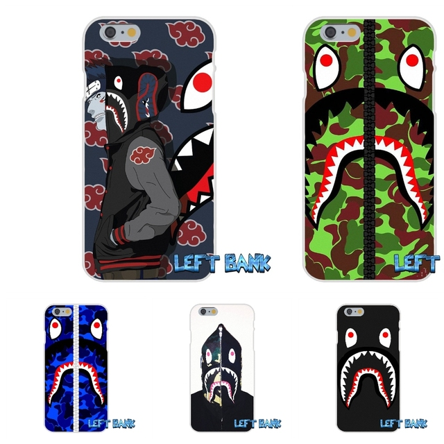 buy popular d9ff2 1a158 US $0.99 |For Samsung Galaxy Note 3 4 5 S4 S5 MINI S6 S7 edge bape shark  army camo Camouflage Soft Silicone TPU Transparent Cover Case on ...