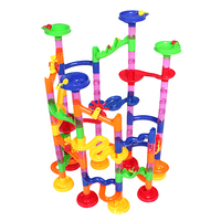 105PCS Baby Toys DIY Construction Marble Race Run Maze Balls Track Building Blocks Children Gift Baby