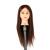 "22 ""Medium Larga Maniquí Peluquería Styling Formación Práctica Pro Modelo Cabeza con abrazadera soporte de la Manija de 35% cabello humano Natural"