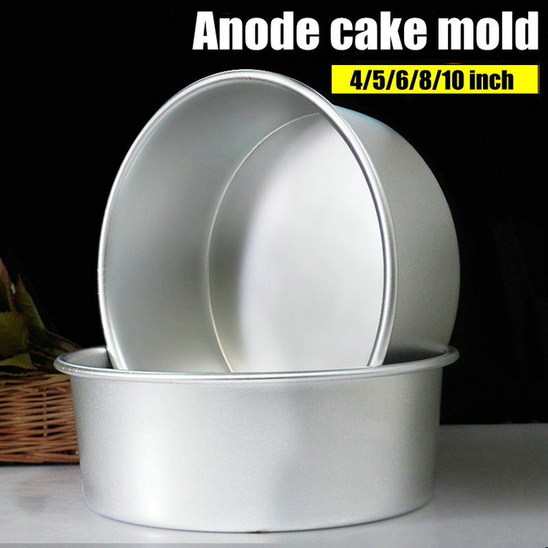 Liga de alumínio morre redondo 4/5/6/7/8/9/10 Polegada bolo molde bolo ferramenta cozimento prato molde pan padrão bakeware ferramenta