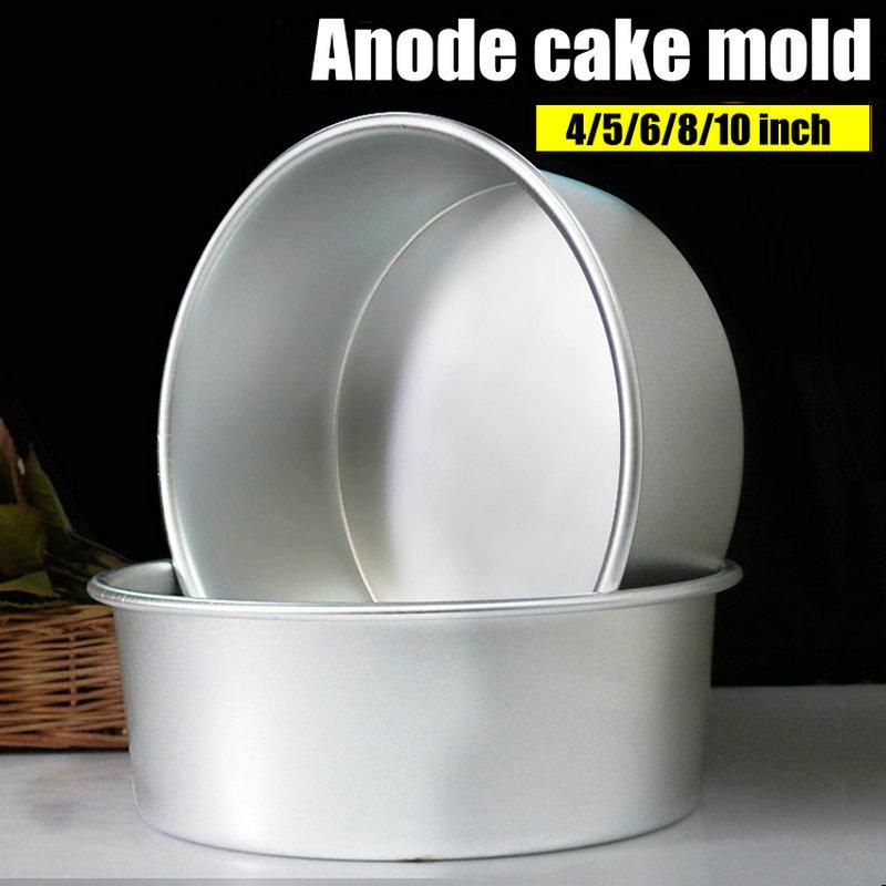 Alumīnija sakausējuma kārta 4/5/6/7/8/9/10 Inch Cake pelējuma kūka rīku cepšanas trauku cepšanas pelējuma panna modelis Bakeware rīks cozinha