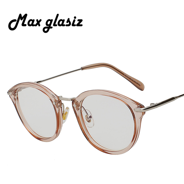 bf368b0fbc Round Opitical Frame Fashion Women Pink Glasses Vintage Colorful Metal  Eyeglasses With Clear Lens Uv Computer Glass