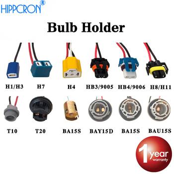 Viecar gniazdo ceramiczne dla H1 H3 H4 H7 H8 H11 HB3 9005 HB4 9006 BA15S BAU15S T10 T20 LEDBulb złącze lampa samochodowa kabel tanie i dobre opinie hippcron 9cm length H1 H3 socket 55 100W Metal 12 v Kable Adaptery i gniazda 6 7kg connector for H1 H3 bulb