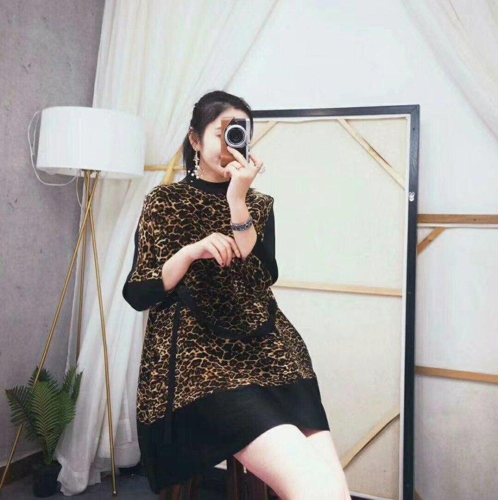 Color Di Signora 7 Color Leopardo Del Manica Caldo Modo Della Miyake Lungo Minuti shirt Stampa In Vendita Piega Magazzino Ufficio T Dolcevita Photo photo gvqrwCg
