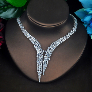 Image 5 - HIBRIDE الفاخرة تصميم AAA مكعب الزركون طقم مجوهرات الزفاف جودة عالية بريليانت موضة الخطوبة مجموعة N 674
