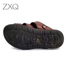 2017 England S Cow Leather Men Sandals Black Brown Hand Sewing Men Summer Shoes Breathable Beach Shoes Summer Men Shoes