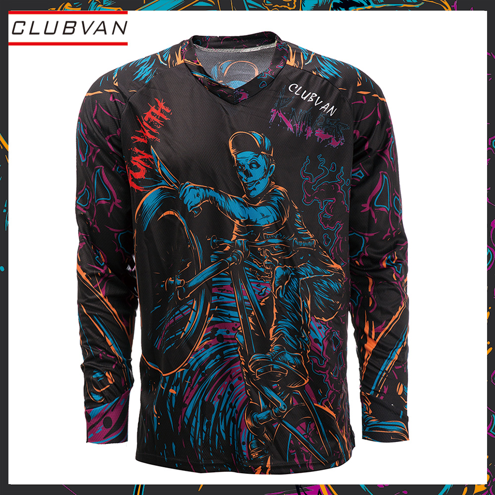 Motocross jersey clubvan Motorcycle Moto Jersey MX MTB Off Road Mountain Bike MTB DH Bicycle Cycling Clothes