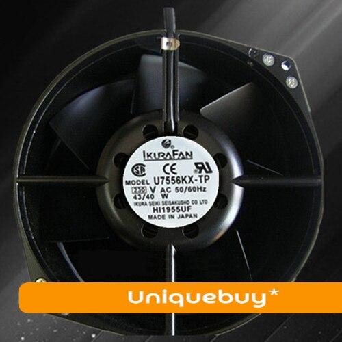U7556KX-TP all matel cooling fan for IKURA FAN 230V High temperature resistance original ebmpapst 1120ntd tc 220 230v 16w 19w cooling fan