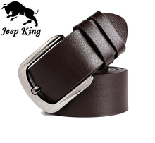 Jeepking Belt Men Genuine Leather Luxury Strap Male Belts for Men Buckle Fancy Vintage Jeans Cintos Masculinos Ceinture Homme