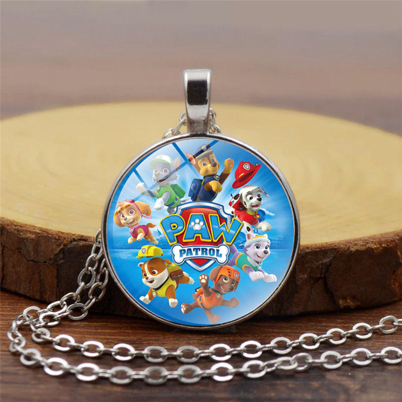 Dog Patrol PAW Patrol Necklace Pendant Time Gemstone Pendant Necklace Vintage Necklace Child Decoration Gift