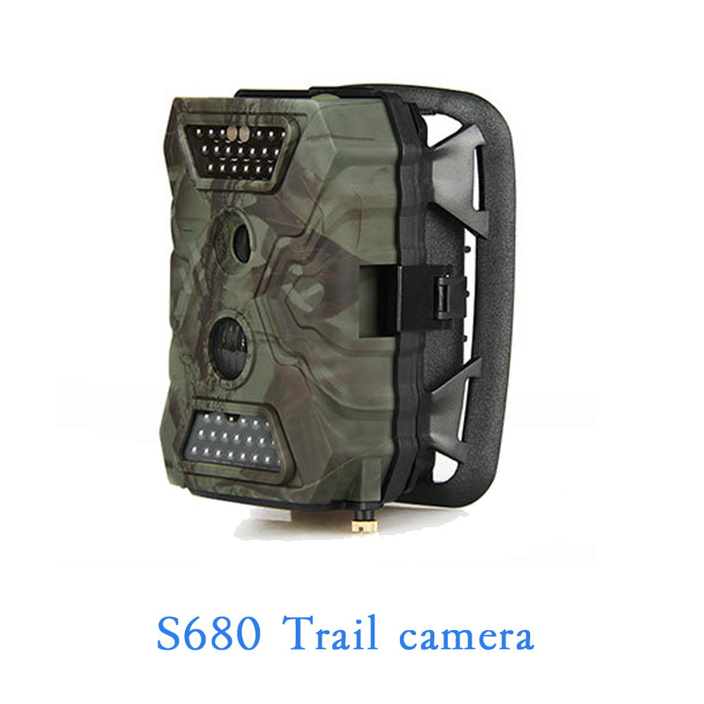 S680 2.0 inch TFT LCD display Video recorder camera support TF Memory card outdoor wild use waterproof IP54 40pcs LED snapshot 1080p hd digital telescope camera with 2 inch tft lcd for photo snapshot and image video recording with max 32gb tf card memory