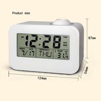 Electronic LCD Projector Alarm Clock Time Temperature Digital Display Desk Table Bedside Clocks Voice Talking Calendar T 5