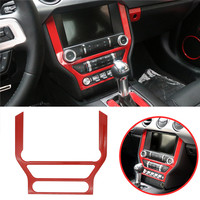 For Ford Mustang 2015 2018 Red ABS Dash Board GPS Frame Panel Cover Trim Frame