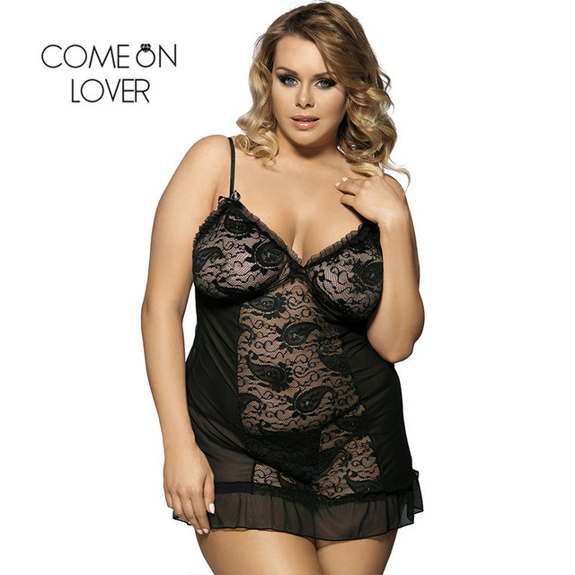 RI7175 Comeonlover Womens Lingerie And Exotic Hot Sale Mini Babydoll Nightwear Lace Black Dress+G string Nuisette Lingerie Sexy