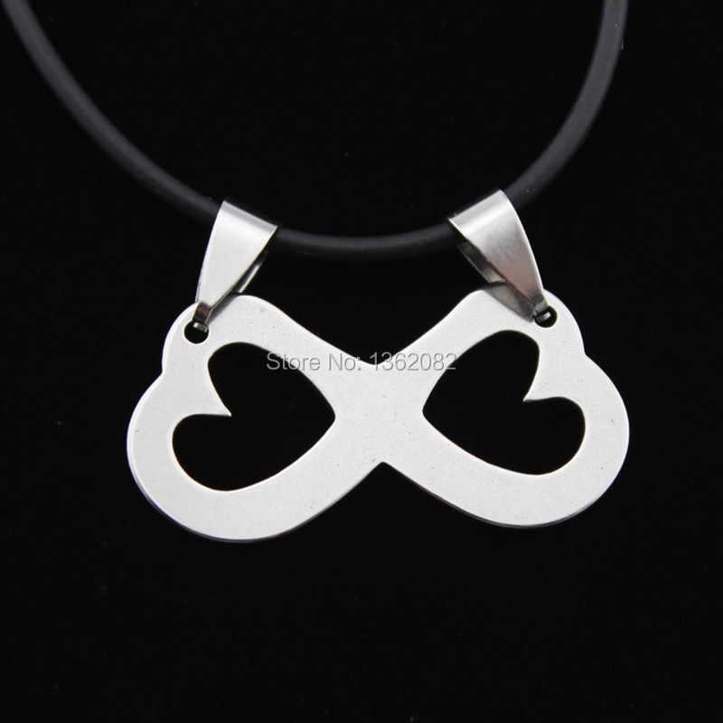 Nowa moda osiem 8 nieskończoność Symbol ze stali nierdzewnej wisiorek naszyjnik dla kobiet mężczyzn prezent MN591