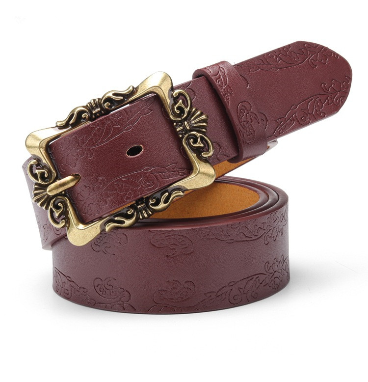 Back To Search Resultsapparel Accessories El Barco Pattern Embossing Print Women Belt High Quality Faux Leather Red Black Female Belt Camel Coffee Casual Belts For Women High Quality And Inexpensive