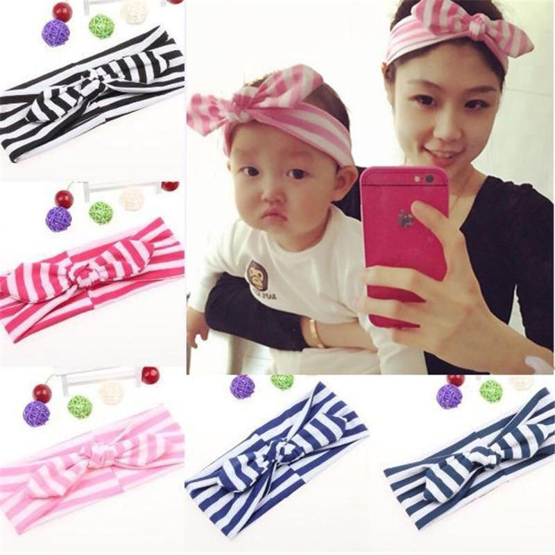 1 pc Women Fashion Elastic Stretch Plain Zebra stripes Rabbit Bow Style Hair Band Headband Turban