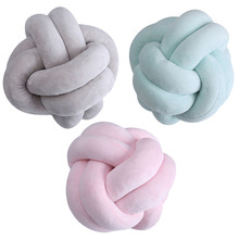 18cm 22cm Nordic Style Velvet Knot Ball Pillow Baby Sofa Cushion Baby Stuffed Toys Kids Adult Bedroom Decoration Car Cushions