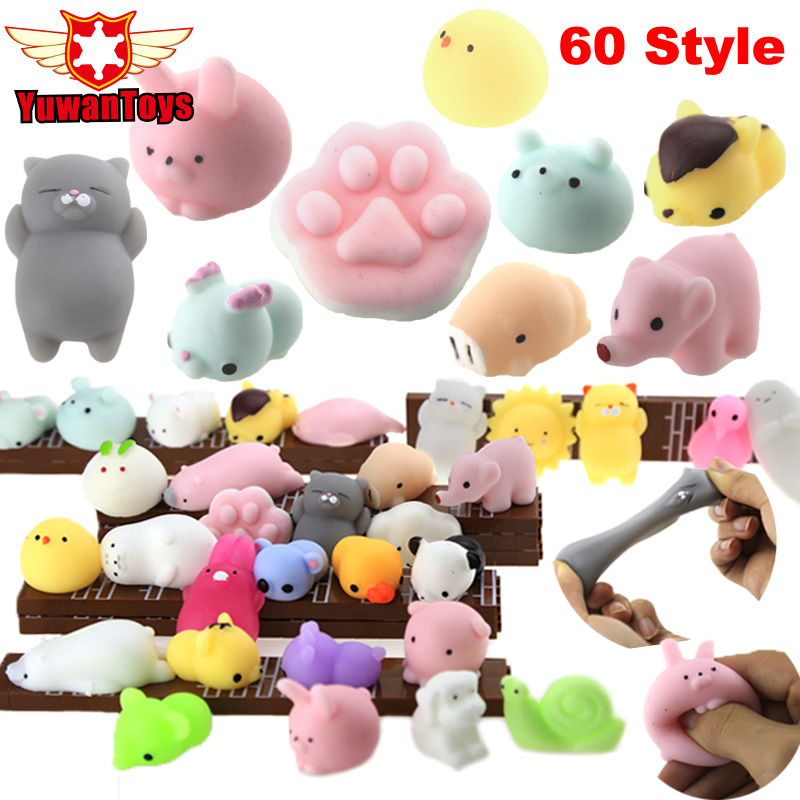 3D Mini Squishy Soft Cat Wipes Giant Cute Pop Funny Cute Animal Antistress Ball Squeeze Jumbo Slow Kawaii Kids Toy Phone DIY