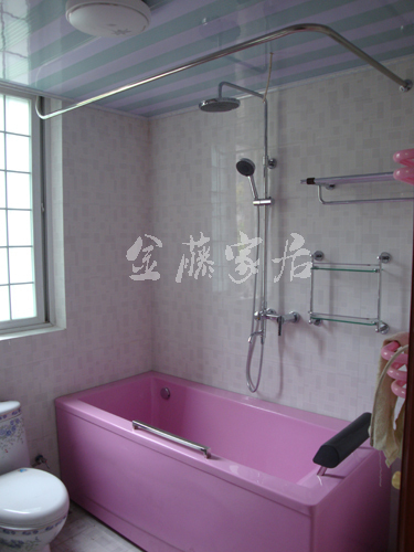 Sus304 in acciaio inox a forma di l a forma di u vasca da bagno a forma di asta di tenda doccia - Tenda per vasca da bagno ...