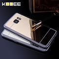 Cubierta de lujo para samsung galaxy s7 edge s7 case espejo de aluminio cubierta del teléfono de tpu para samsung galaxy s7 edge accesorios