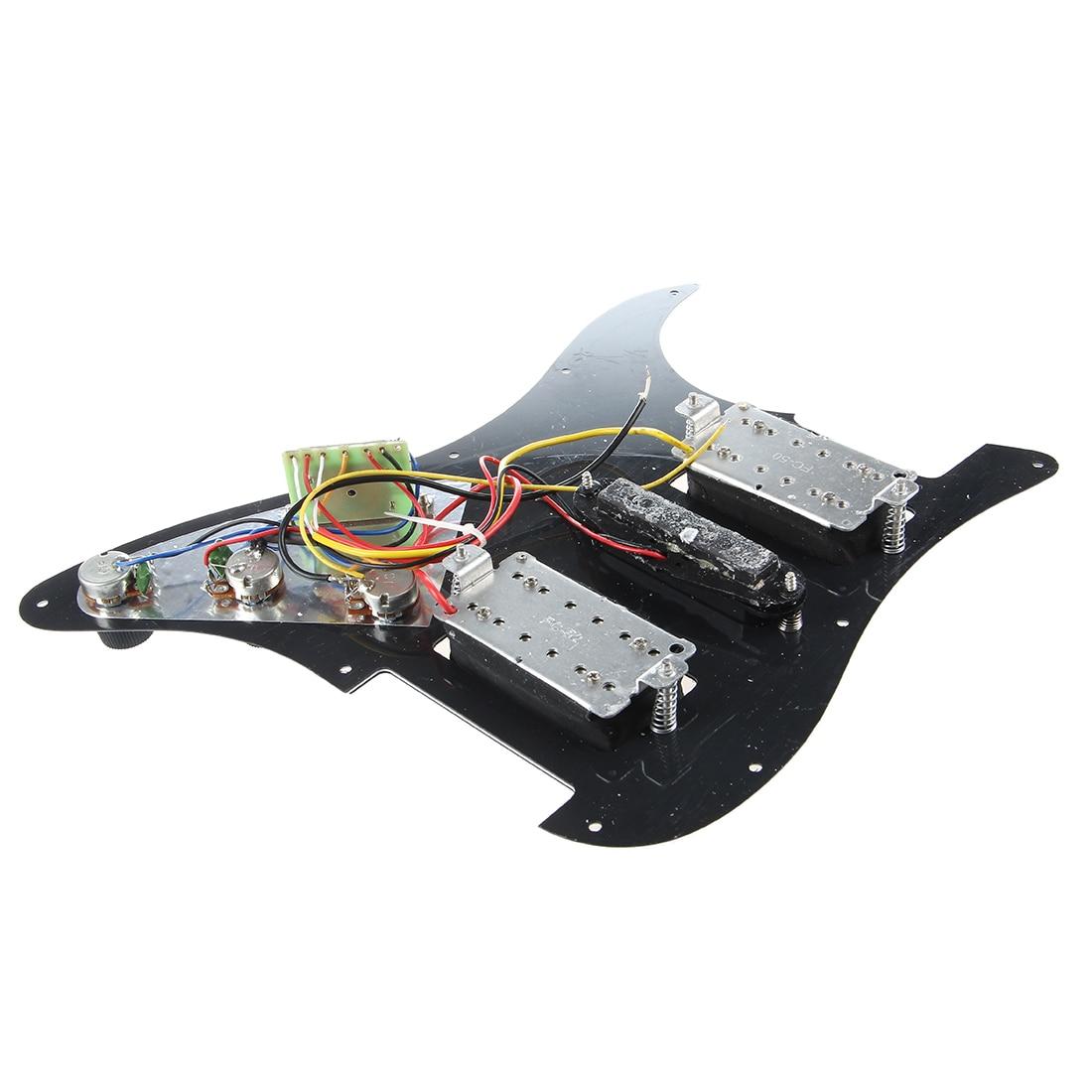 Loaded Prewired Guitare Électrique Pickguard Micros 11 Trou SAS Noir Pour Gitar Accessoires Pièces De Rechange