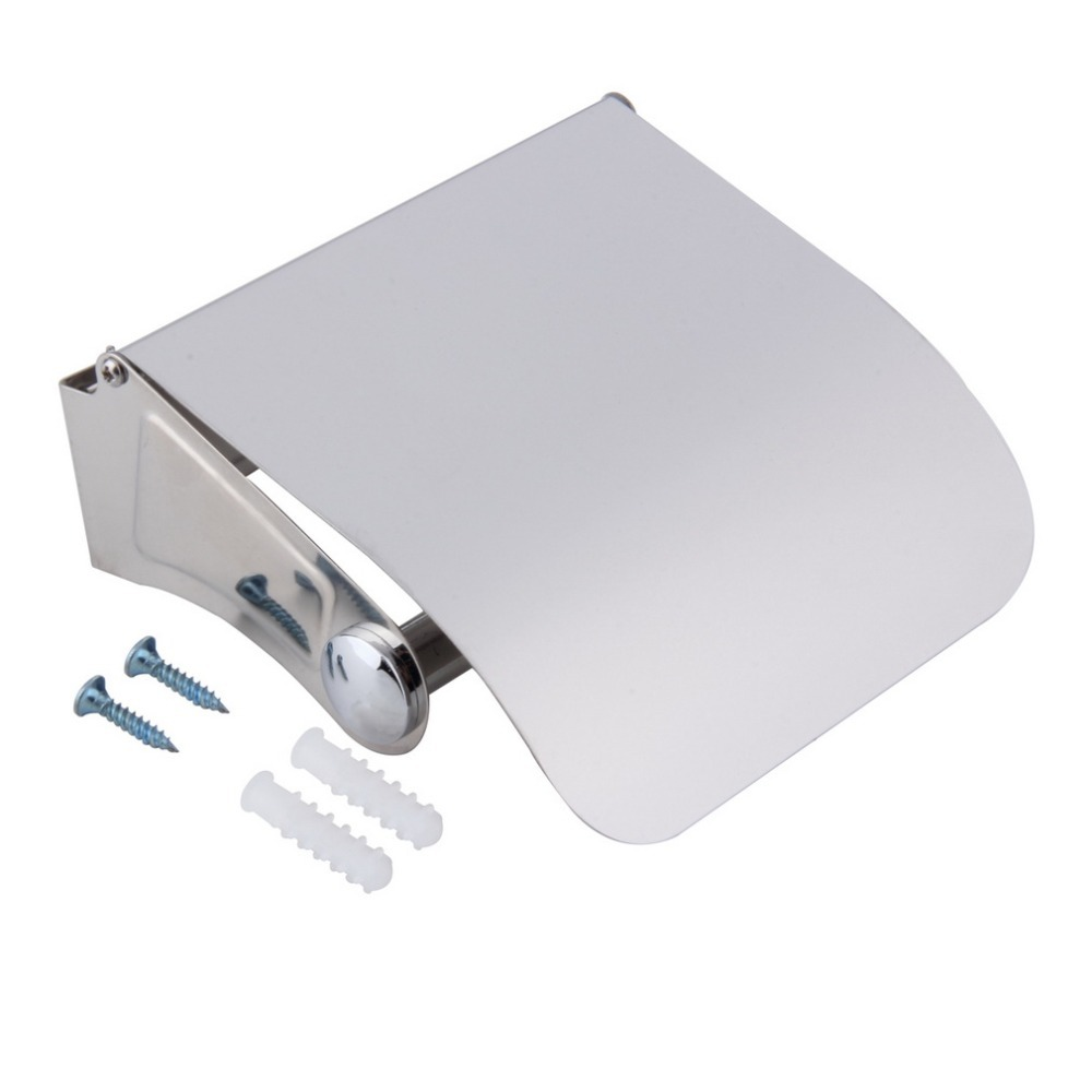 Bathroom Accessories Stainless Steel Toilet Paper Holder Tissue Holder Roll Paper Holder Box Amazing Durable