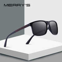 MERRYS DESIGN Men Classic Polarized Sunglasses TR90 Legs Outdoor Sports Sun glasses Ultra-light Series UV400 Protection S8176