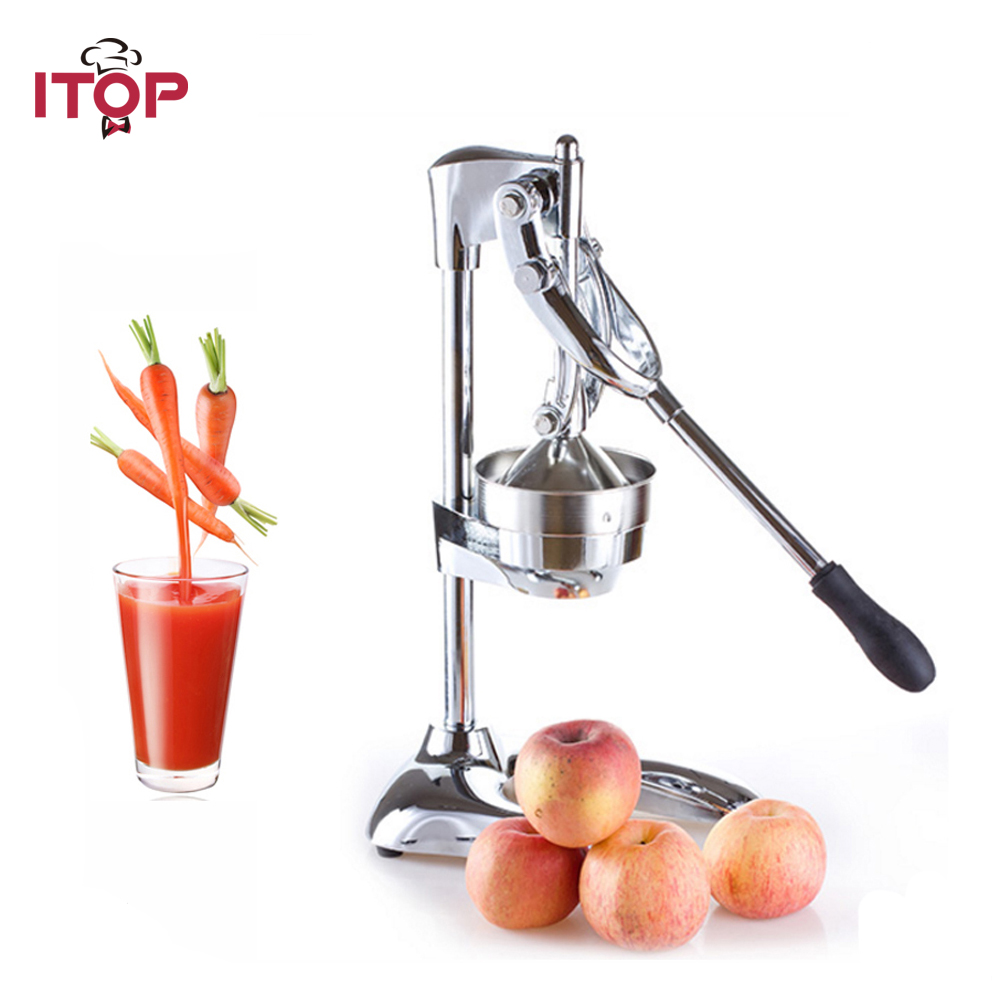 ITOP Stainless Steel Hand Press Manual Fruit Juicer Juice Squeezer Citrus Orange Lemon New DIY Juicer fruit orange lemon opener peeler zester citrus fruit skin remover finger type