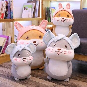 Piękny 40cm-60cm nadziewane symulacja chomika pluszowa urocza zabawka dla chomika pluszowe zwierzę zabawka dla dzieci dzieci prezenty na urodziny, boże narodzenie