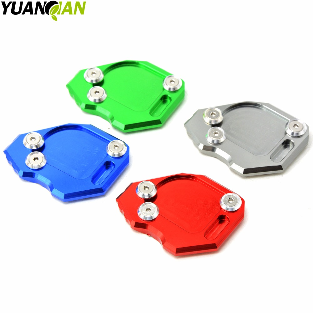 New Motorcycle Parts Kickstand Foot Side Stand Enlarge Extension Pad Support Plate For BMW F800GS F 800 GS 2008 2009 2010-2015  for yamaha mt09 mt 09 mt 09 2013 2015 2014 new motorcycle parts kickstand foot side stand enlarge extension pad support plate