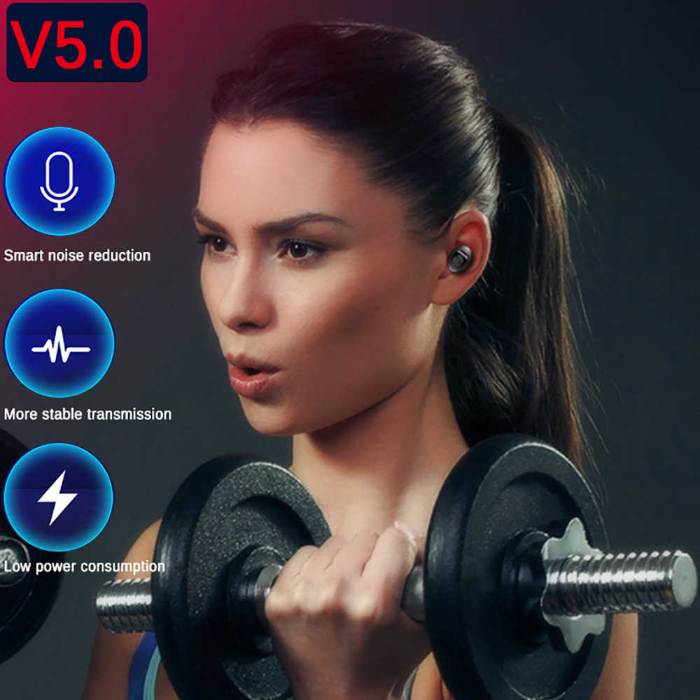 XG12 TWS سماعة لاسلكية تعمل بالبلوتوث 5.0 سماعة ستيريو HIFI صوت سماعات أذن رياضية يدوي في الأذن الألعاب سماعة رأس مزودة بميكروفون آيفون