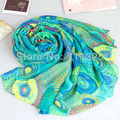 Círculo milagro protector solar del cabo de las mujeres larga bufanda viscosa de viscosa de seda elegante bufanda del silenciador de la bufanda